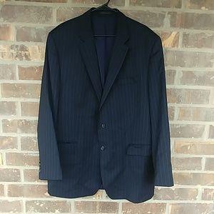 Lauren RL Navy Pinstripe Suit Jacket 48L